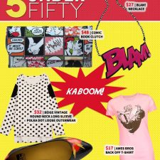 5 Under Fifty: Kaboom! A Comic Book Inspired Fashion Explosion