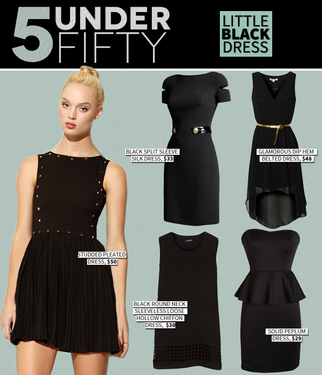 5 Under Fifty: The Little Black Dress