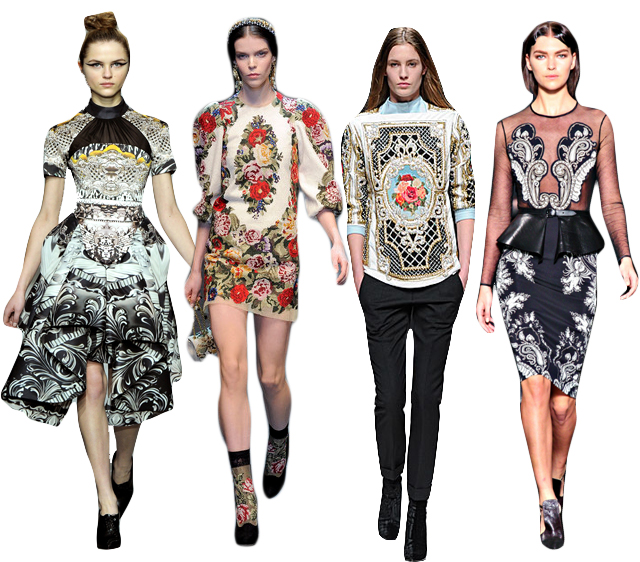 Bejeweled in Baroque: Fall's Favorite Dramatic Motif