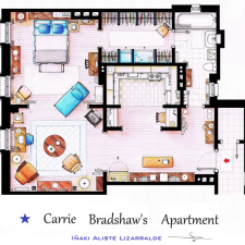 A Bird's Eye View of Carrie Bradshaw's Apartment