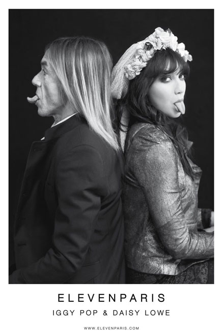 The Legend and the Love Child: Iggy Pop and Daisy Lowe for Eleven Paris (3)