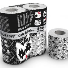 This Actually Exists:  Hello Kitty x KISS Toilet Paper