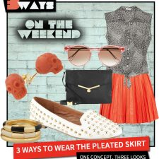 Pretty in Pleats  –  3 Ways to Wear the Pleated Skirt