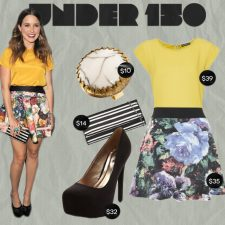 Under $150: Sophia Bush in Summer Floral and Bold Stripes