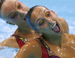 The Terrifying Face Of Synchronized Swimming