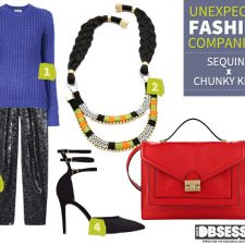 Unexpected Fashion Companions: Sequins and Chunky Knits