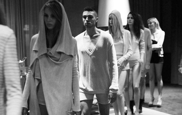 Fashion Week Chronicles: Lars Andersson Takes On Dramatic Monochrome Knits for Spring 2013