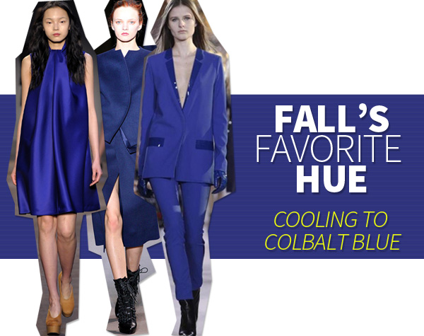 Fall's Favorite Hue:  Cooling to Colbalt Blue