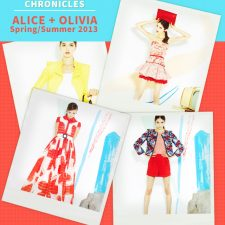 Fashion Week Chronicles: Bright Patterns in Ladylike Cuts Ideal for Spring in Alice + Olivia's Spring 2013 Collection