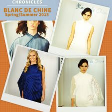 Fashion Week Chronicles: Blanc de Chine SS 2013