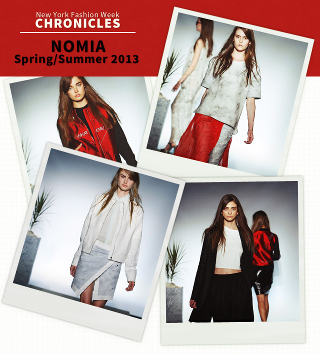 Fashion Week Chronicles: Nomia's Characteristically Architectural Spring 2013 Collection