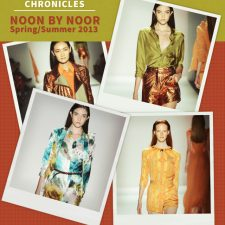 Fashion Week Chronicles: Noon By Noor Presents a Gilded Lineup Of Satin And Silk for Spring 2013