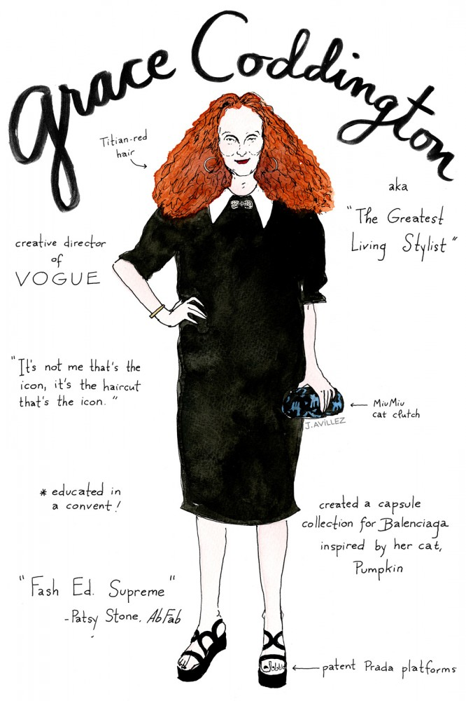 From Alt to Zahm: An Illustrated Guide to the 12 Most Recognized Fashion Editors (10)