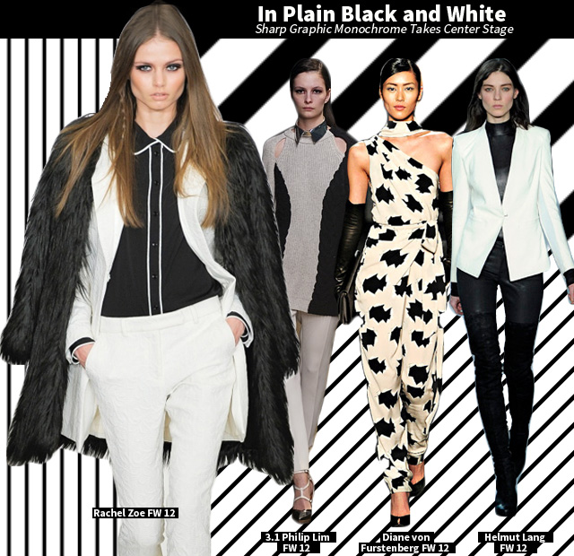 In Plain Black and White – Sharp Graphic Monochrome Takes Center Stage