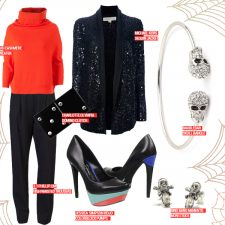 A Halloween-Spirited Look that Will Delight, Not Frighten