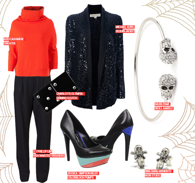 A Halloween Spirited Look That Will Delight, Not Frighten