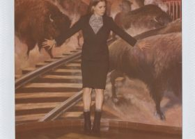 Actress Amy Adams poses for Boy. by Band of Outsiders Autumn 2012 campaign. (12)