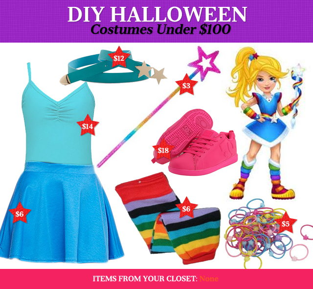 DIY Halloween Costumes Under $100: Rainbow Brite