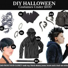 DIY Halloween Costumes Under $100: Girl With the Dragon Tattoo