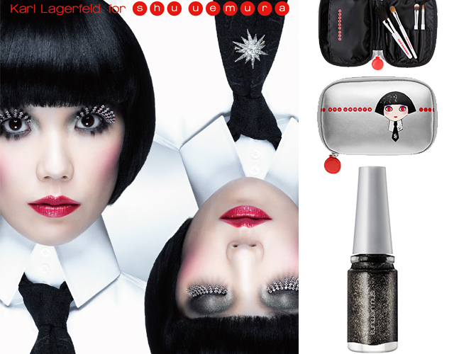 Finally Launched! Karl Lagerfeld's Holiday Collection For Shu Uemura