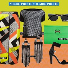 Unexpected Fashion Companions: Micro and Jumbo Prints