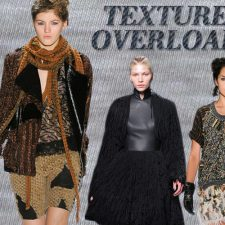 Texture Overload: Nubby Wools, Buttery Leather and Embellishments Take Over Winter Style