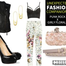 Unexpected Fashion Companions: Punk Rock X Girly Florals