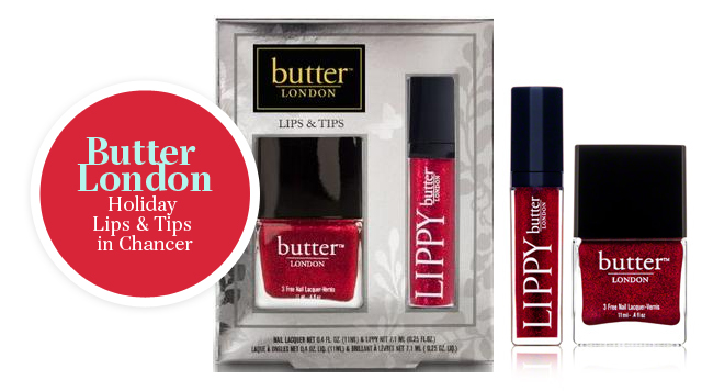 Butter London Holiday Lips & Tips In Chancer