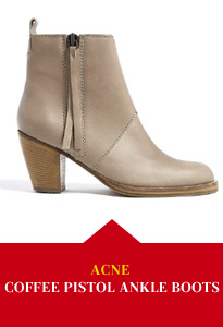 Acne Coffee Pistol Ankle Boots