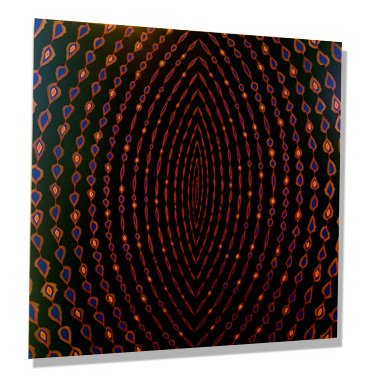 """Fred Tomaselli's Artwork Exhibited at Michael Kohn Gallery's """"Into The Mystic"""" Art Show"""