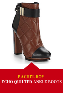 Rachel Roy Echo Quilted Leather Ankle Boots