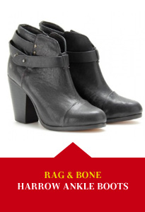 Rag &amp; Bone Harrow Leather Ankle Boots