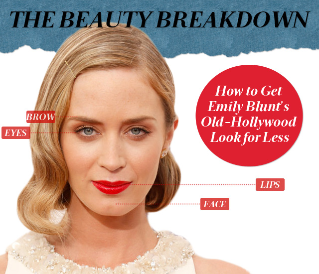 The Beauty Breakdown: How to Get Emily Blunt's Old-Hollywood Look for Less