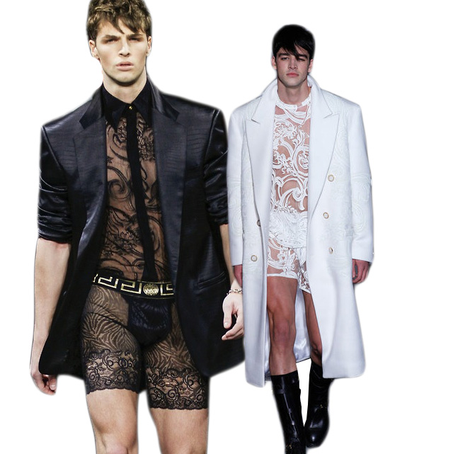 Versace Wants Your Man To Wear Lacy, Floral Lingerie