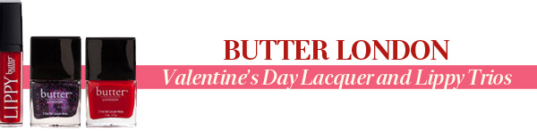 Butter London's Valentine's Day Lacquer And Lippy Trios