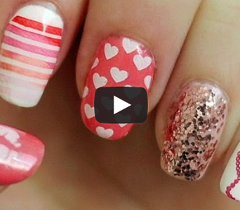 Ellen And Dish Valentine's Day Nails