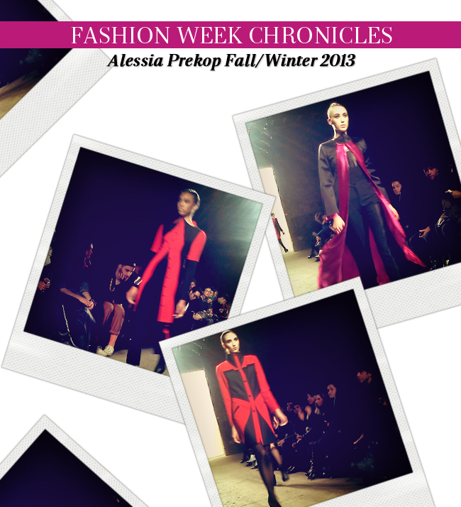 Fashion Week Chronicles: Alessia Prekop FW 2013 Collection at NYFW