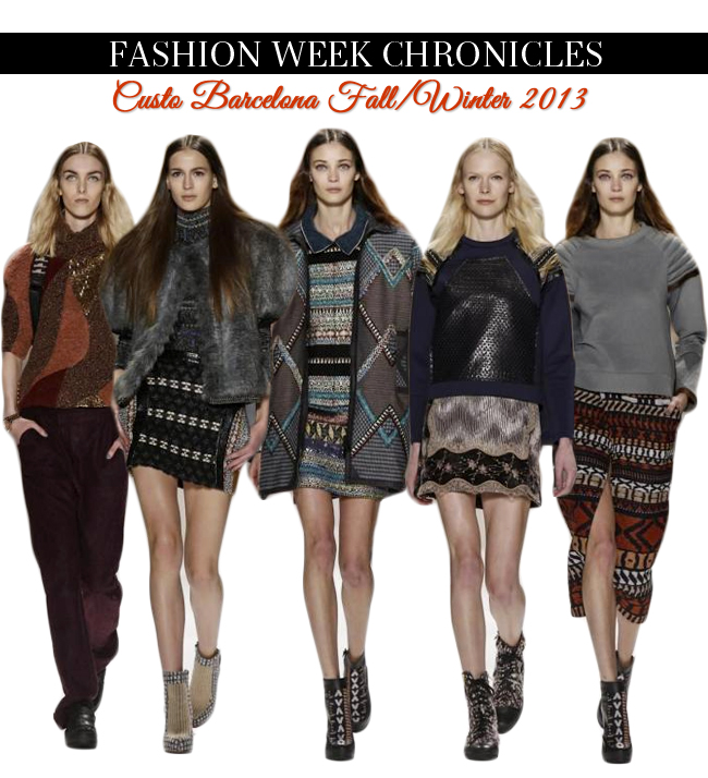 Fashion Week Chronicles Custo Barcelona FW 2013 Collection At NYFW