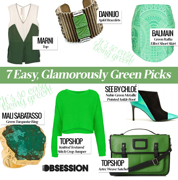 7 Easy, Glamorously Green Picks that Will Have Even Kermit Changing His Tune