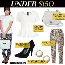 Under $150: Ashley Madekwe In Leopard Print Mulberry
