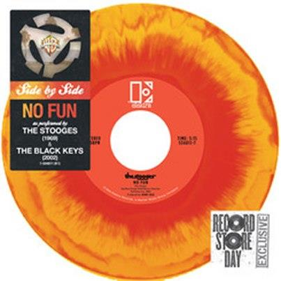 "The Black Keys & Iggy and the Stooges  team up for the ""No Fun"" split 7""."
