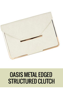Oasis Metal Edged Structured Clutch