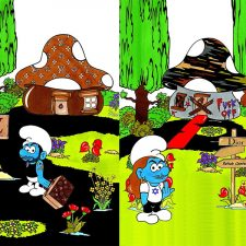 Lagerfeld, Elbaz, Galliano and Jacobs Get Smurf'd in aleXsandro Palombo's Smurfashion Village
