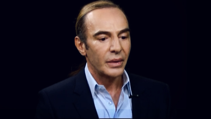 Watch John Galliano's First TV Interview In Two Years On Charlie Rose