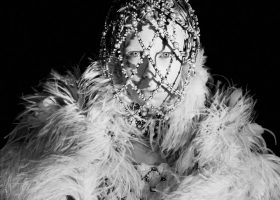 Caged Couture: Edie Campbell For Alexander McQueen's Fall 2013 C