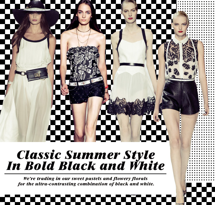 Classic Summer Style In Bold Black and White