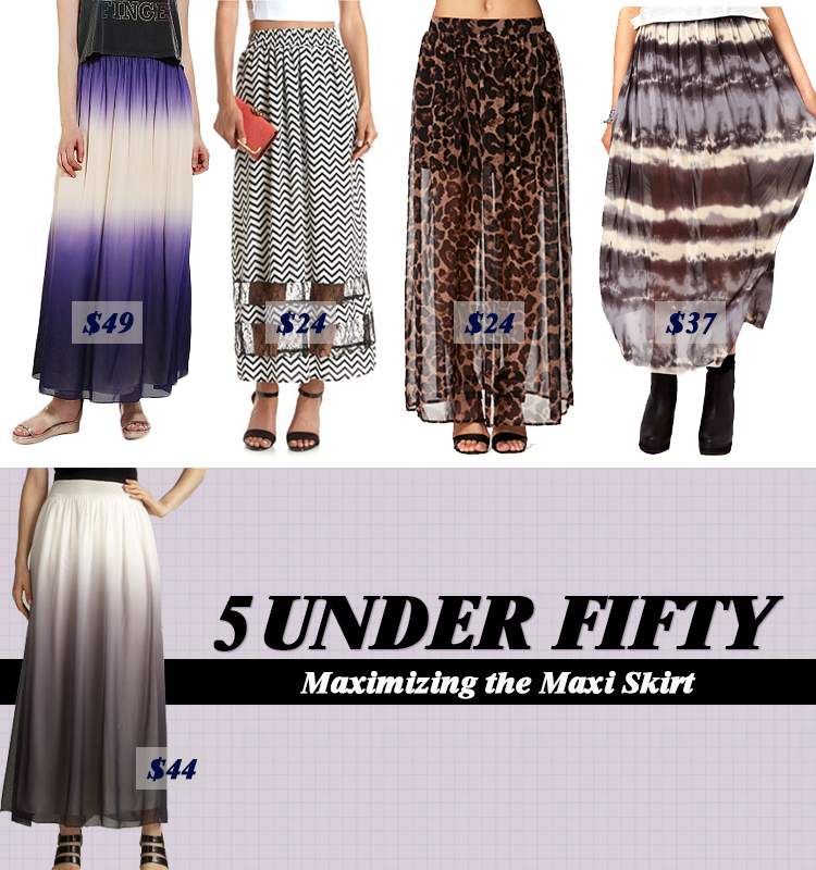 Five Under Fifty Maximizing The Maxi Skirt