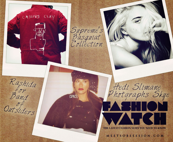 Fashion Watch: Supreme's Basquiat Collection, Hedi Slimane Photographs Sky Ferreira, Rashida for Band of Outsiders