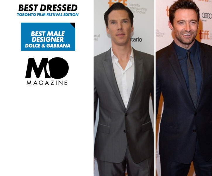 Benedict Cumberbatch  and Hugh Jackman in Dolce & Gabbana