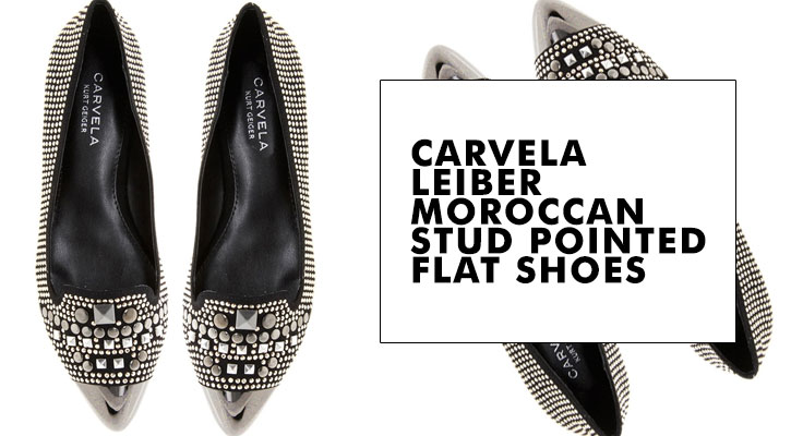 Carvela Leiber Moroccan Stud Pointed Flat Shoes